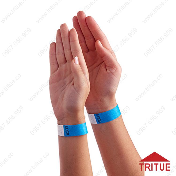 Vòng đeo tay bằng giấy Tyvek có đánh số thứ tự