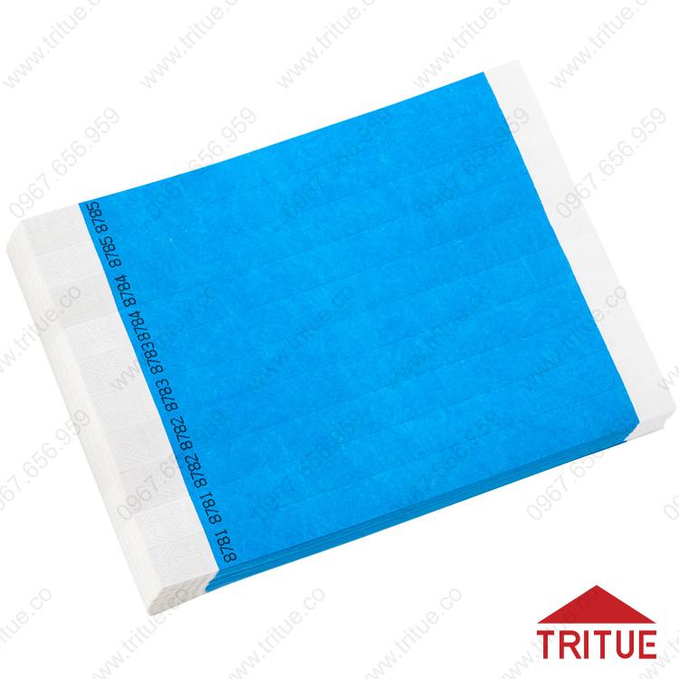 Vòng đeo tay bằng giấy Tyvek đánh số thứ tự giá rẻ