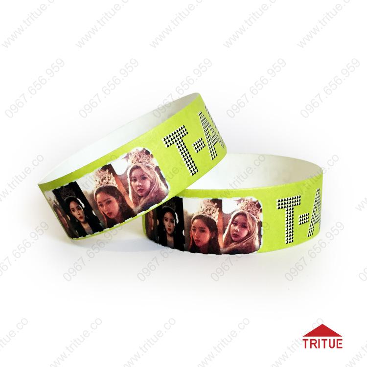 Vòng đeo tay giấy checkin chương trình ca nhạc Tara